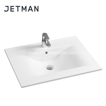 Slim Thin Edge Ceramic Wash Hand Single Sink