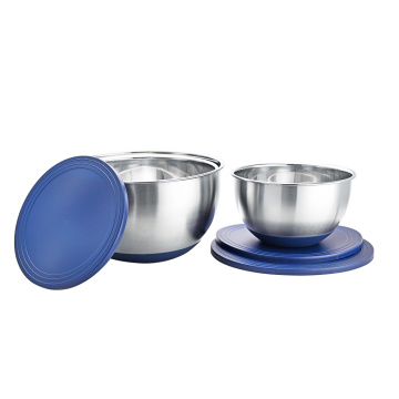 Stainless steel airtight lid mixing bowl set wholesale