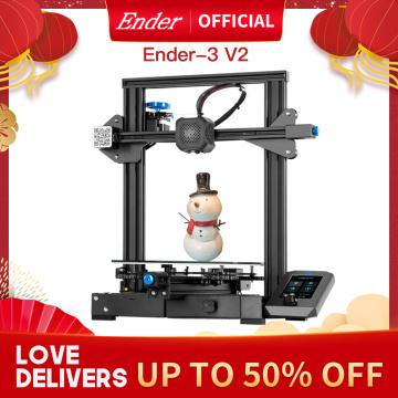 Ender-3 V2 3D Printer Kit Updated Self-Developed Silent Mainboard Creality 3D Smart Filament Sensor Resume Printing.