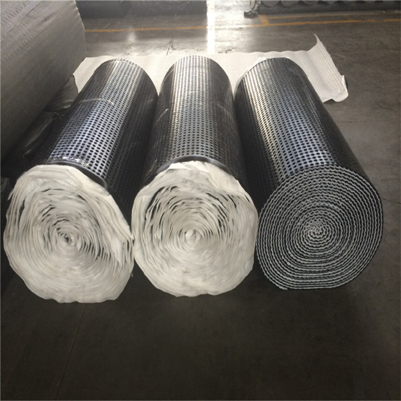 Draiange sheeting heated bonded by geotextile rolls