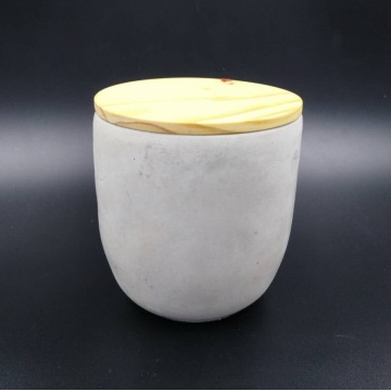 Scented cement container candle