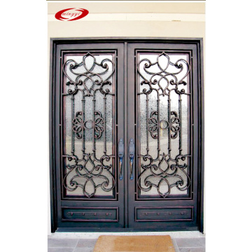 Wrought Iron Double Entry Doors