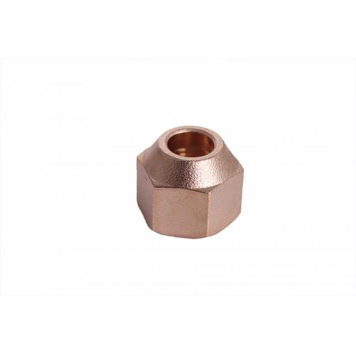 Brass fitting forged nut