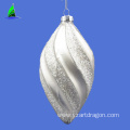 hanging glass pine cone christmas ornament