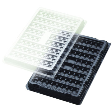 Precision electronic automation thermoformed blister tray