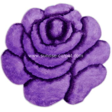 Soft & Silk Flower 3D Carpet