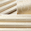 White/Yellow/Beige/Pink/Brown Shimmer Damask Striped Wallpaper For Bedroom Modern Embossed Texture Wall Paper Roll Home Decor