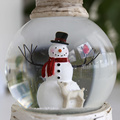 Swirling Glitter Water Christmas Snow Globe