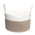 Handcraft sewing cotton rope laundry organizer storage basket box for bathroom