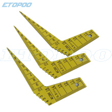 1pcs Japanese MCJBS plastic feeler gauge 1-15mm Taper Welding Feeler Gauge Gage Gap Ruler Automobile industry Measuring Tools