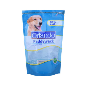 Pet Dog Food Stand up Bag with Resealable Zipper