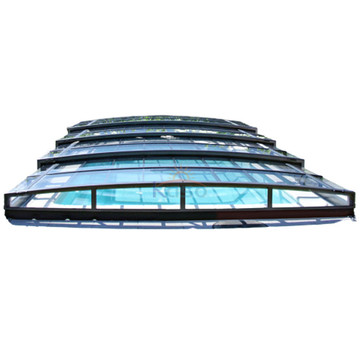 Round Retractable Polycarbonate Swimming Pool Roof Cover