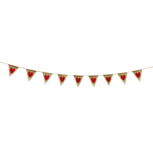 Valentine'day burlap love heart bunting garland