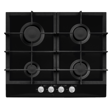 Gas Ceramic Glass Plate 4 Burner