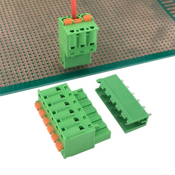 push in botton contact pluggable terminal block