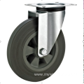 160mm industrial rubber    casters without brakes