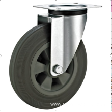 200mm  industrial rubber  rubber    casters without brakes