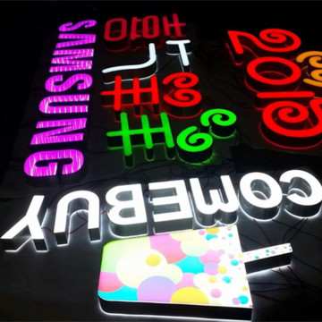 Advertising Shop Letters and Signs Great Brightness