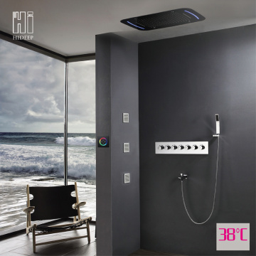 Wall Mounted Chrome Led Shower Faucet Set