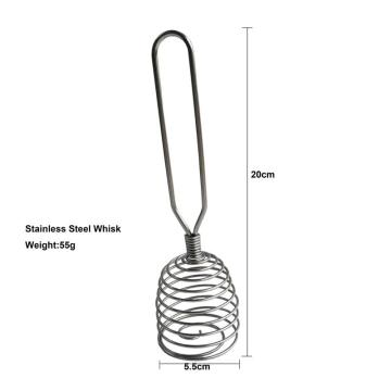 Spiral stainless steel whisk