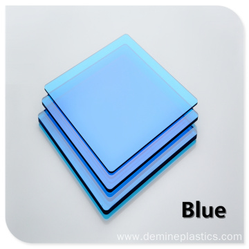 Color polycarbonate solid sheet wall panel