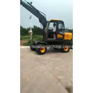 Construction Machinery Hydraulic Wheel Excavator for korea