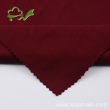 Polyester spandex thick interlock knitted fabric for garment