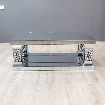 Rectangle Mirrored Coffee Table With Legs