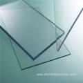 Anti scratch transparent polycarbonate sheet baffle