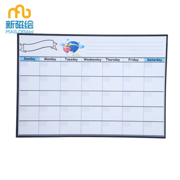Dry Erase Magnetic Whiteboard Month Weekly Planner