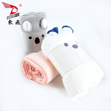 cute animal design coral fleece towel