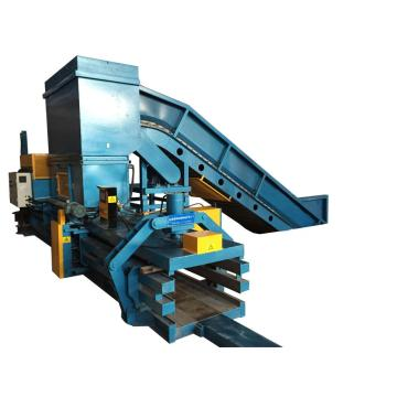 Horizontal hydraulic automatic carton baler machine