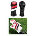 PU golf club cover plush wood pole cover