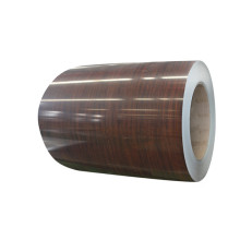 Wood grain metal laminate sheets
