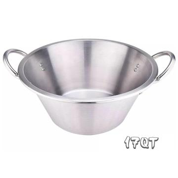 17QT Heavy Duty Stainless Steel Large Cazo Comal