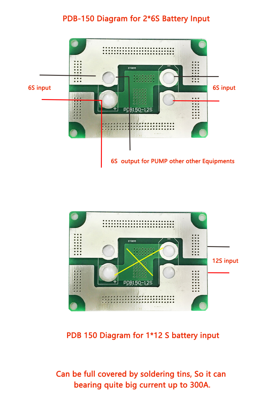 PDB-150 Drone Power Distribution Board Diagram