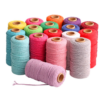 100% natural 8mm 12mm various colourful cotton rope