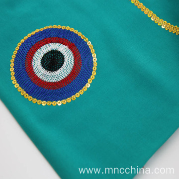 wholesale 100% woven rayon color emboridery fabric