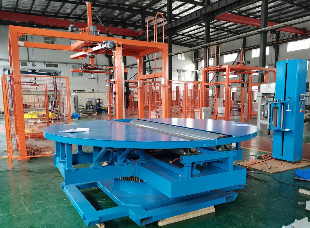 Reel Wrapper With Slew Bearing