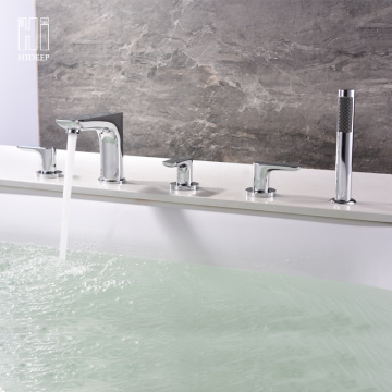 Hot And Cold Water Copper Bathtub Faucet