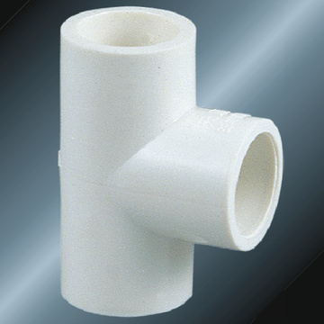 Din Pn10 Water Supply Upvc Tee White Color