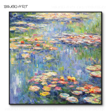 Professional Artist Reproduction Cloud Monet Water Lily Flowers Oil Painting on Canvas Wonderful Landscape Lilies Oil Painting