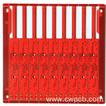 Microphone Red color printed circuit board