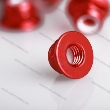 IColoful Self Lock Aluminium Hex Nut eneFlange