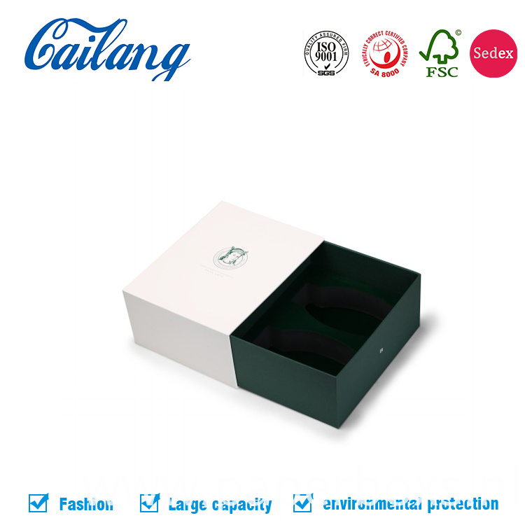 sliding drawer paper box for coffee and tea