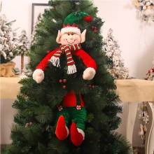 The New Christmas Telescopic Rod Faceless Doll Window Is Decorated With Tree Dolls Elves Hug The Tree Decoration Supplies