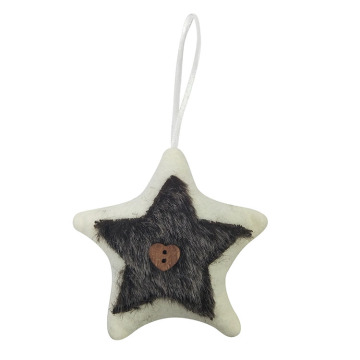 Christmas tree ornaments with star shape