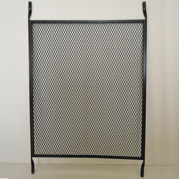 Durable expanded metal guards pet door screen