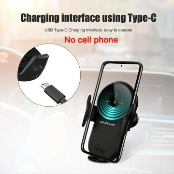 15W Wireless Charger Car Phone Holder Qi Induction 12 Pro For Samsung Mount Sensor Fast iPhone Huawei Charging Max Stand C2X7