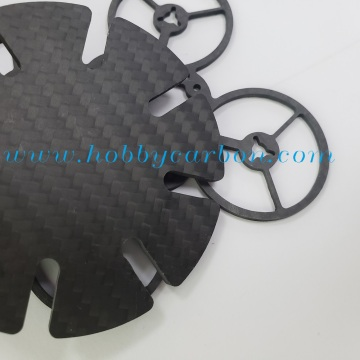 Wholesale price cutting twill matte carbon fiber part